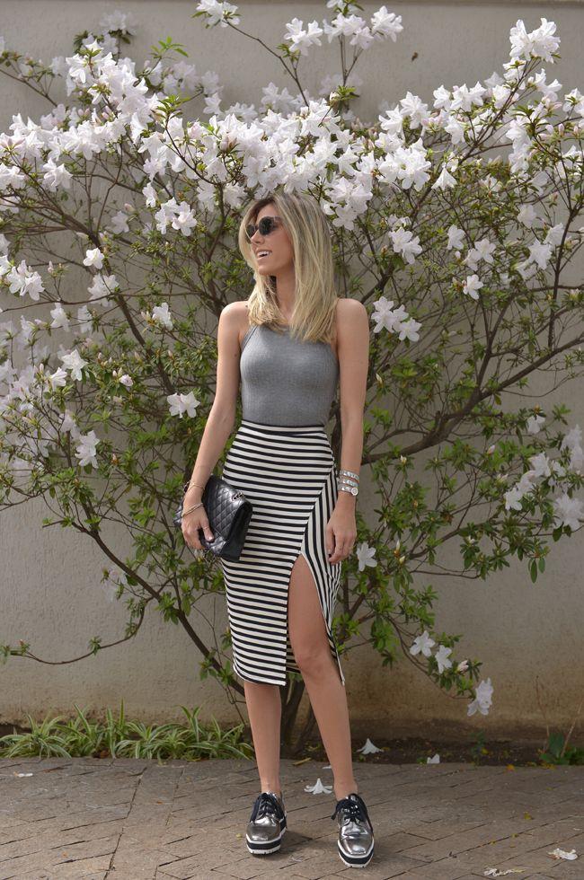 Nati Vozza do Blog de Moda Glam4You dá mais uma dica de look com flatform.