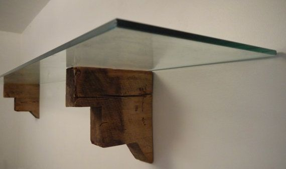 Reclaimed Wood Brackets. Handmade Brackets. Modern Rustic Shelf. Barn Wood Brackets.