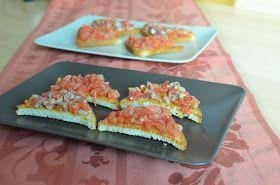 Sugar, spice and everything nice!: Bruschete cu pește afumat și roșii