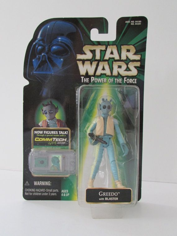 Greedo with Blaster  Star Wars Power of the Force  Green