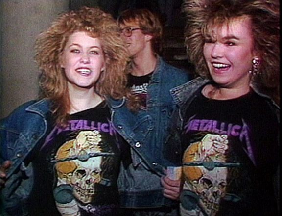 big hair, Metallica shirts, jean jackets- what's not to love here?!