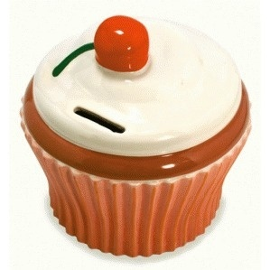 Cofre Cupcake Em Porcelana Imaginarium - R$ 50,00