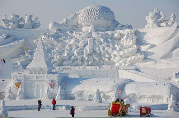 The Harbin International Ice And Snow Festival, Heilongjiang, China