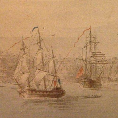 UNIQUE VIEW (200 CM) OF CONSTANTINOPLE BY MICHEL-FRANÇOIS PREAULX 1798