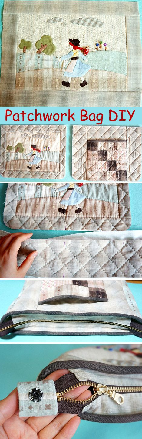 Applique Bag Japanese Patchwork Quilt Tutorial. Step-by-step Photo-instructions DIY.  http://www.handmadiya.com/2015/10/japanese-patchwork-bag.html