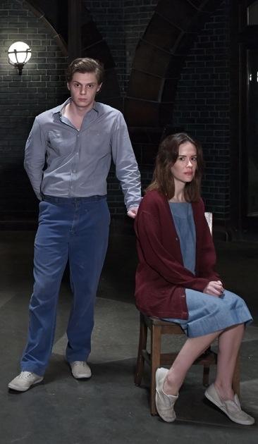 Evan Peters and Sarah Paulson in 'American Horror Story: Asylum'