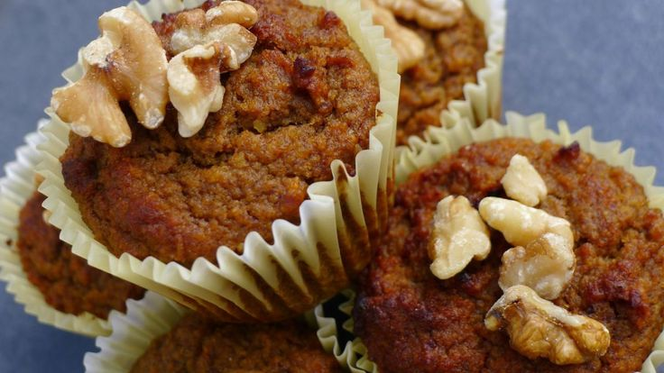 Super Healthy Carrot Cake Muffins