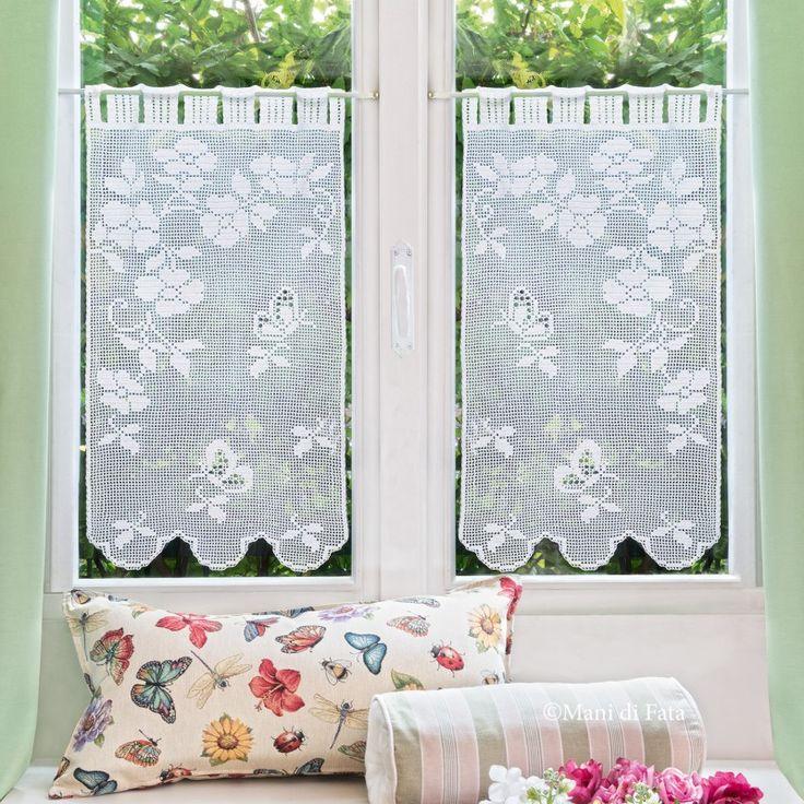 97 best images about mani di fata uncinetto filet on - Tende all uncinetto per finestre ...