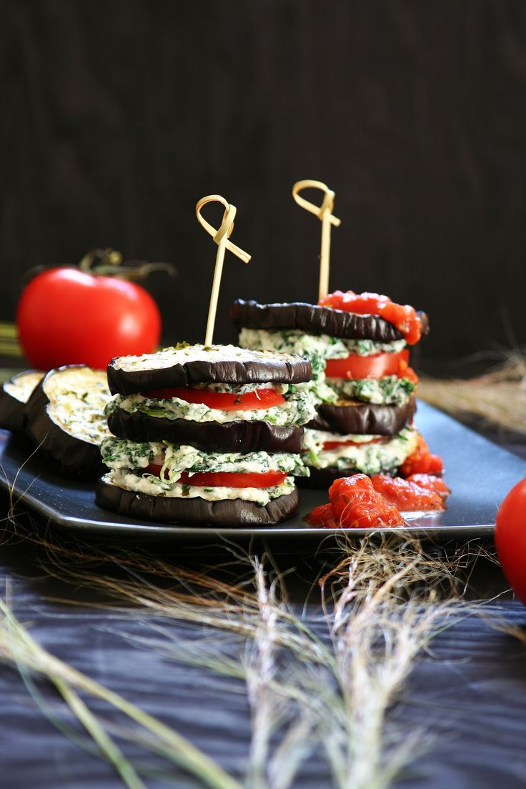 Eggplant with spinach ricotta cheese