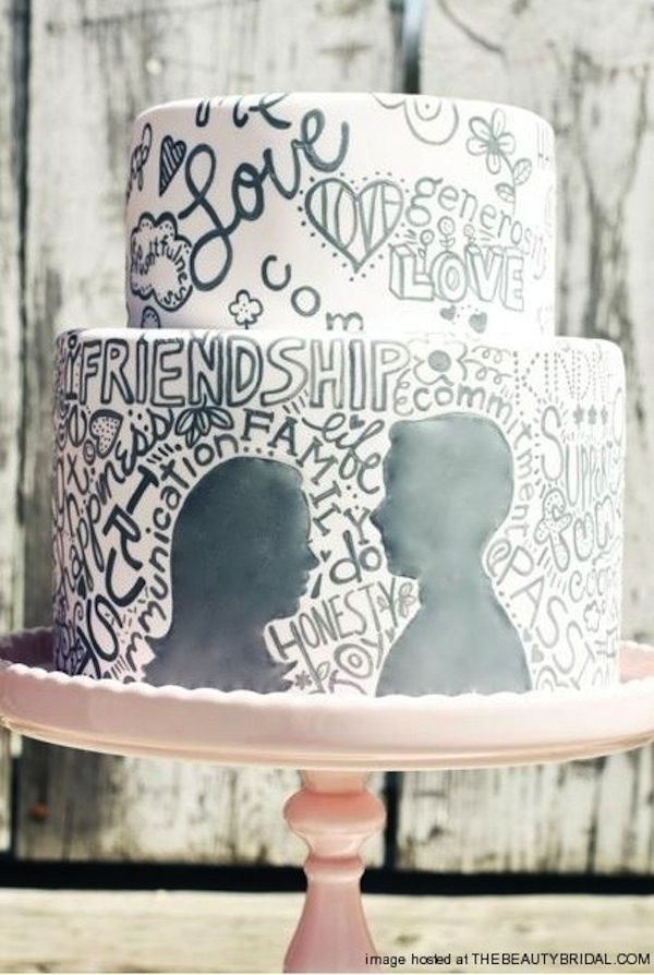 Graffiti Wedding Cake | 27 Ideas For Adorable And Unexpected Wedding Cakes