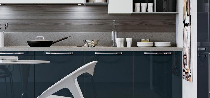 27 best cucine moderne round images on pinterest - Cucine grigio perla ...
