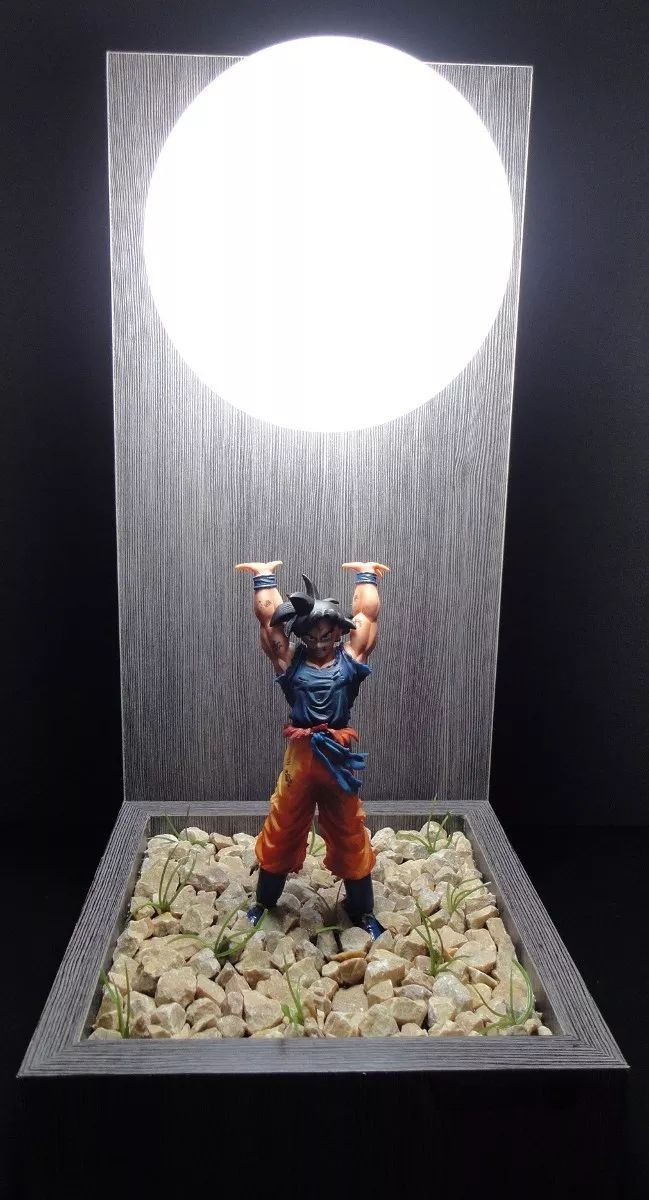 lamp lampshade + doll goku dragon ball genki lady