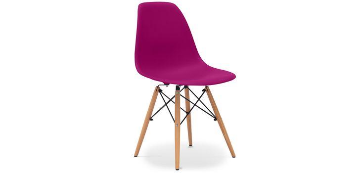 Chaise DSW Charles Eames Style - Mauve Polypropylène Matt