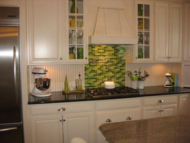 green glass tiles for kitchen backsplashes