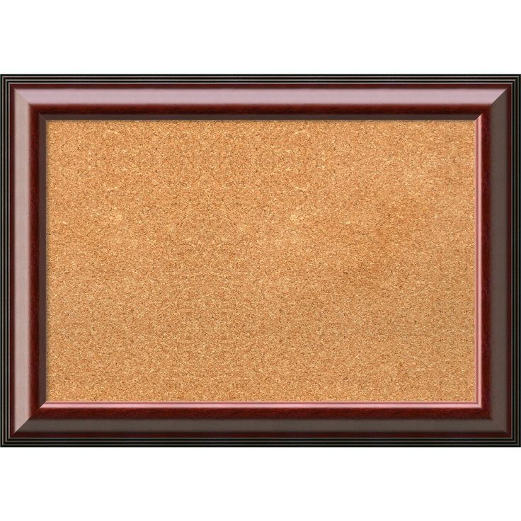 amanti art framed cork board medium cambridge mahogany 28 x 20 inch