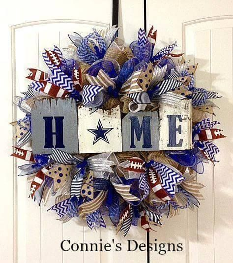 Best 25+ Dallas Cowboys Wreath Ideas On Pinterest