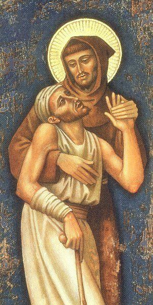 St Francis and the Leper