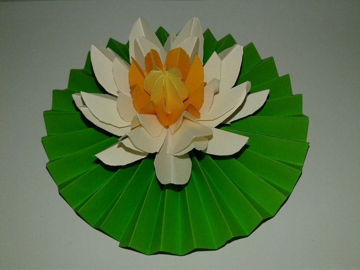 This white color lotus is made with color papers