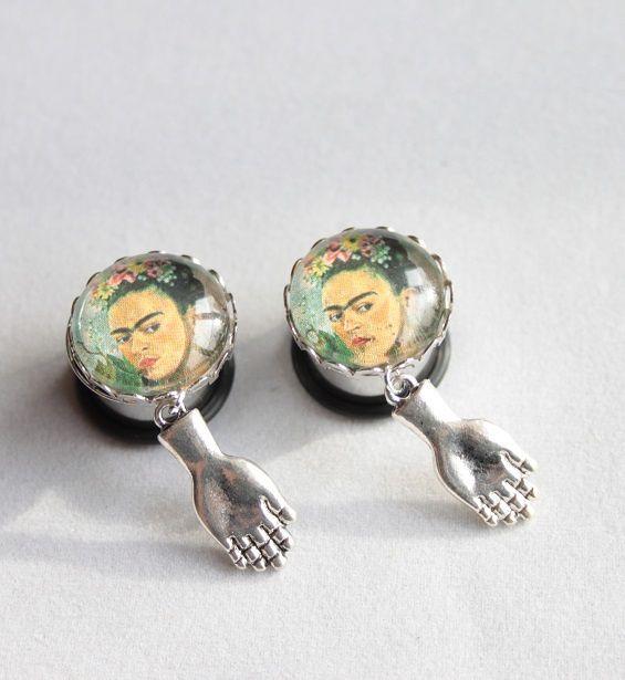 Tunnel - Plug Frida Kahlo hand
