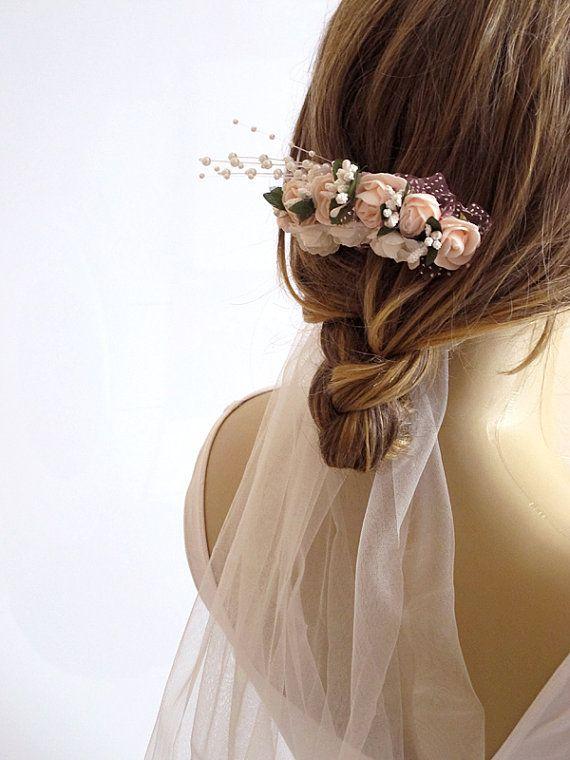 Wedding Flower Hair Comb Bridesmaid Gifts weddings by selenayy