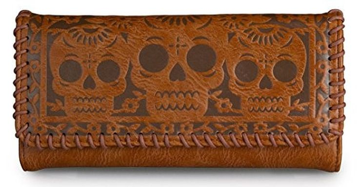 Loungefly Women's Wallet Sugar Skull Faux Leather Brown