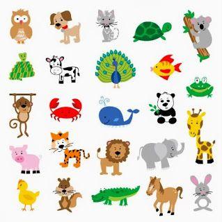 Cute Cartoon Baby Animals   Wild Animals   Crafts ...
