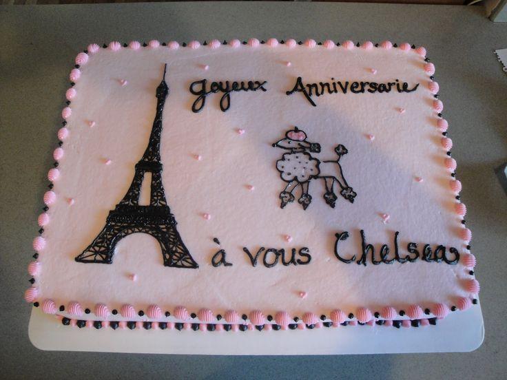 Best Haileys Birthday Images On Pinterest Paris Birthday - Birthday cake paris