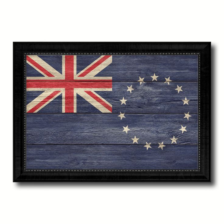 Cook Islands Country Flag Texture Canvas Print with Black Picture Frame Home Decor Wall Art Decoration Collection Gift Ideas