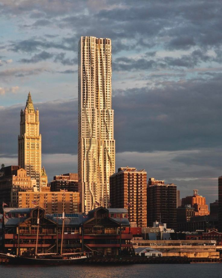 7 Buildings That Defined Frank Gehry's Legacy New York by Gehry at Eight Spruce Street, New York City, 2011