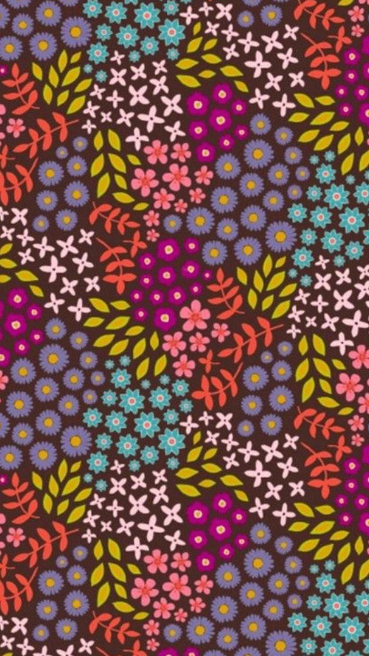 Love flower power daisy graffiti print cotton fabric 60s 70s retro - An Earth Toned Garden Of Florals Is Tossed On A Nbsp A Brown Ground In This Gots Certified Organic Print Midsummer Dream From Jan Dicintio Of Daisy Jane S