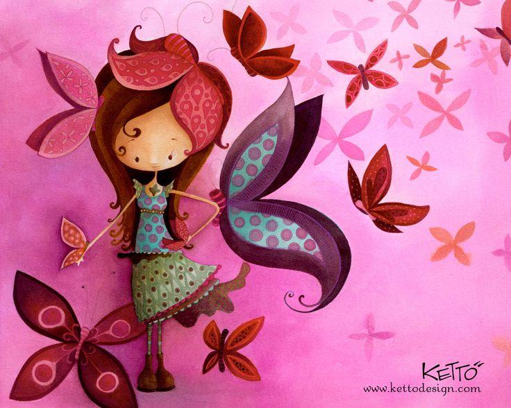 butterfly girl Emma