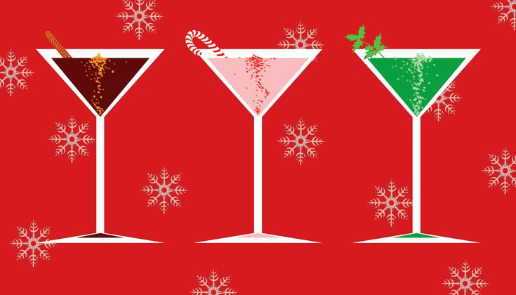 45 Awesome holiday cocktail party clipart