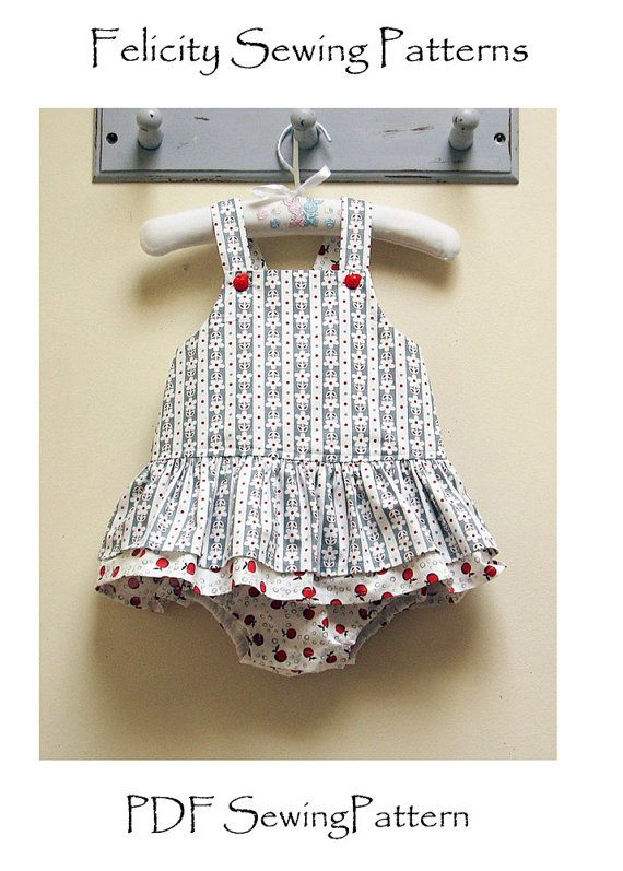 Tinkerbelle Romper PDF Romper Sewing Pattern for baby girls sizes to fit 3 months to 3 years by Felicity Sewing Patterns,