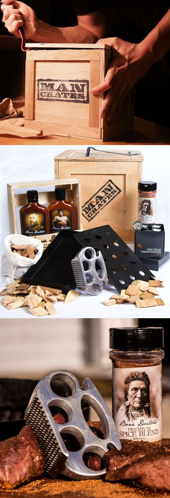 Yes it's snowing, which is why you should be thinking about summer! Get your Valentine a Grill Master Crate and help him take his grilling game to the next level. #ManCrates