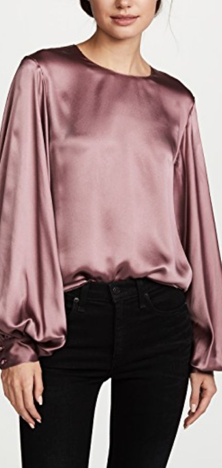balloon silk blouse