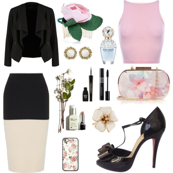 Floral business wear. by amy-b1988 on Polyvore featuring polyvore fashion style OPUS Fashion rag & bone Christian Louboutin Oasis Kendra Scott Francesco Ballestrazzi Napoleon Perdis Marc Jacobs