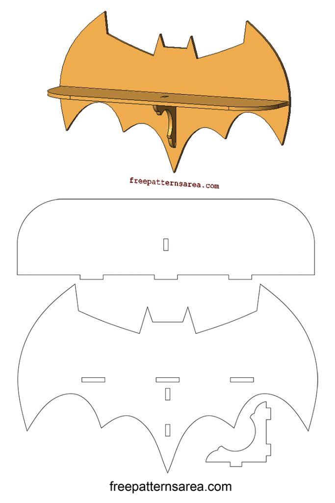 Laser Cutting Batman Wall Shelf Woodworking Plan