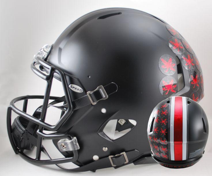 Ohio State Buckeyes Authentic Full Size Speed Helmet - Satin Black