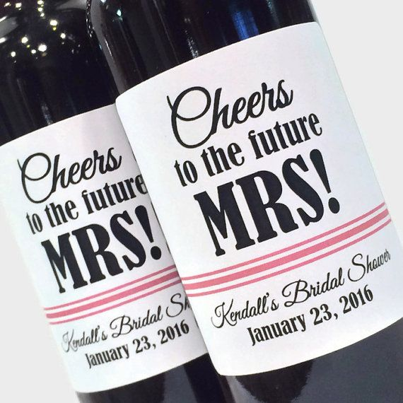 Bridal Shower Favor or Bachelorette Favor Mini Wine by ZoeDeZigns