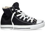 Zwarte Converse sneakers All Star Hi gympen