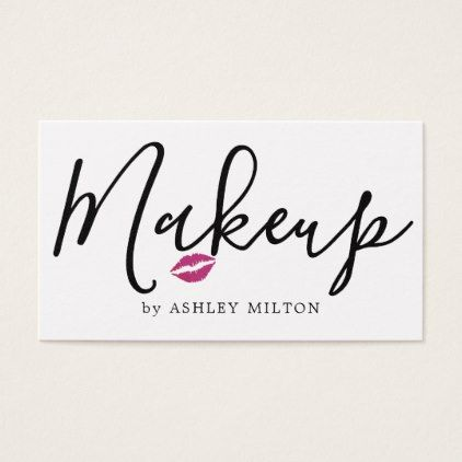 Elegant Clean White Lips Icon Makeup Artist Business Card - diy cyo personalize design idea new special custom