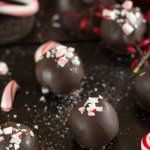 Only four ingredients, these peppermint Oreo truffles are an easy treat to whip together for company and would make a great homemade Christmas gift!