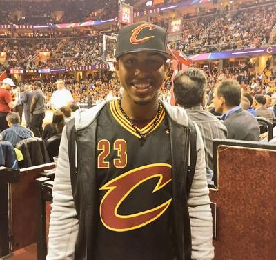 Francisco Lindor, at the Cavs game!!