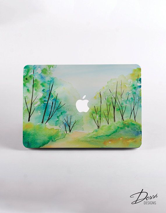 Hard Plastic Watercolour Forest Macbook Case Design for MacBook Pro Retina Display, MacBook Pro NON Retina Display  and MacBook Air Case