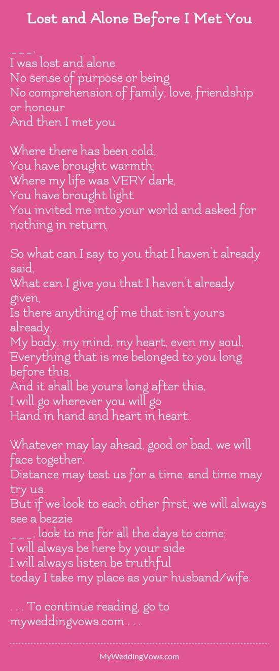 Your comments on these vows? - hearted by myweddingvows.com ♥