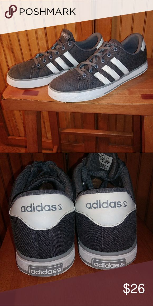 Adidas Neo Label Mens Canvas & Lrather EUC adidas Shoes Sneakers