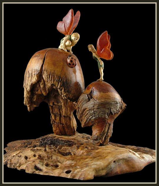 Best mushrooms carved turned images on pinterest