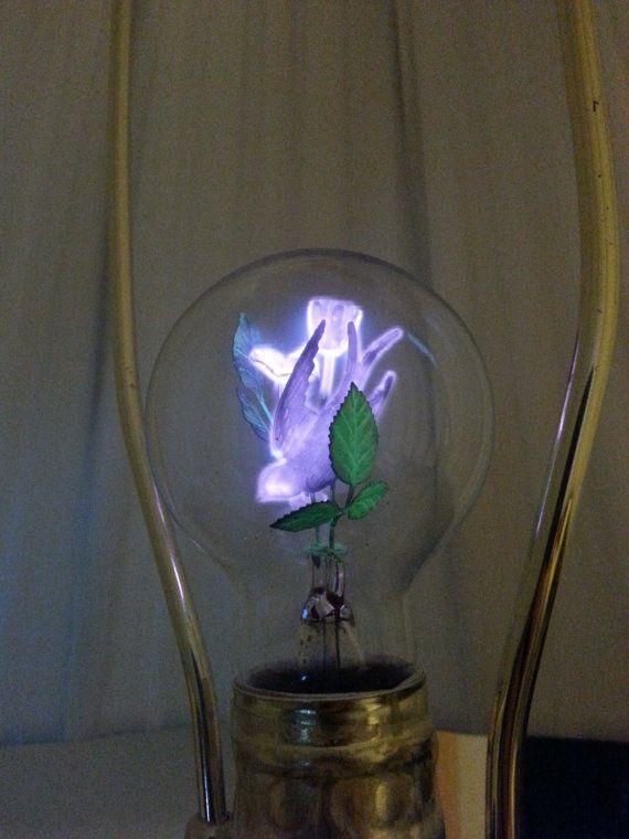 Vintage Working Aerolux Duro Test Lightbulb Metal Roses