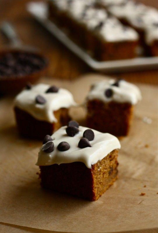 Pumpkin Chocolate Chip Snack Cake | Food & drink | Pinterest