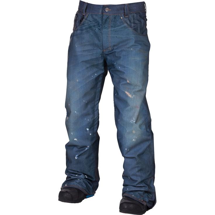 686 LTD Destructed Denim Insulated Snowboard Pant (Men's), #peterglenn